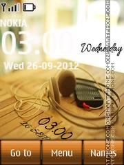 Music Digital Clock theme screenshot