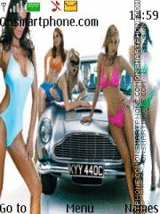 Girls And Car theme screenshot