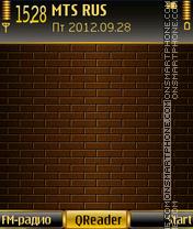 Golden Wall theme screenshot
