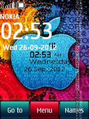 Apple Digital Clock es el tema de pantalla