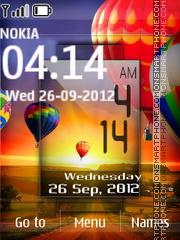 Htc Digital Clock theme screenshot