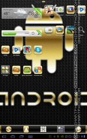 Gold Droid PRO theme screenshot
