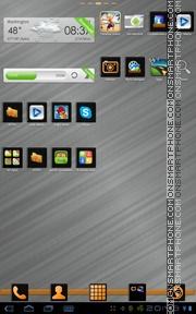 Capture d'écran Black & Orange thème