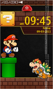 Super Mario Touch theme screenshot