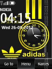 Adidas Dual Clock theme screenshot