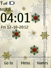 Snowflakes theme screenshot
