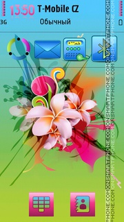 Summer In Flowers es el tema de pantalla