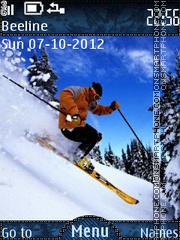 Alpine Sking theme screenshot