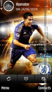 Eden Hazard theme screenshot