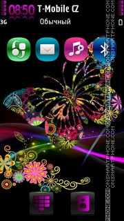 Butterfly loves theme screenshot