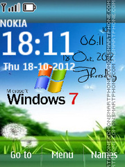 Windows 7 Digital 01 theme screenshot