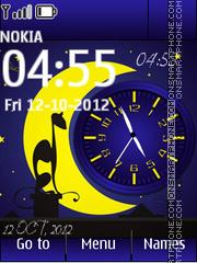Night Dual Clock tema screenshot