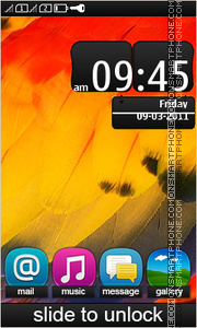 Symbian Belle 01 tema screenshot