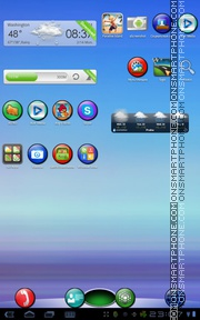 Colorful Circles 01 tema screenshot
