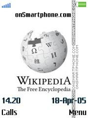 Wikipedia es el tema de pantalla