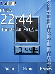 Blue Dual Clock theme screenshot