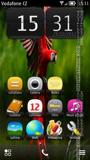 Red Parrot 01 theme screenshot