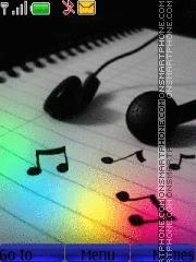 Music theme screenshot
