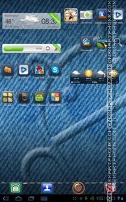 Capture d'écran Blue Jeans Go thème
