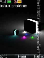Glow Cube 01 theme screenshot