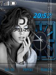 Blue Clock theme screenshot