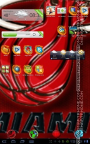 Miami Heat 01 theme screenshot