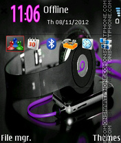 Music Purple theme screenshot