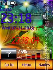 Rainbow Clock theme screenshot