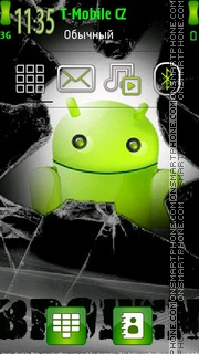 Broken Android tema screenshot