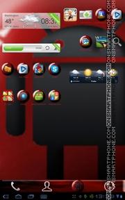 Capture d'écran Red Marble Android thème