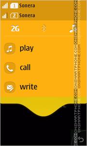 Скриншот темы Orange Abstract Waves