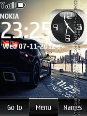 Sport car dual clock 01 theme screenshot