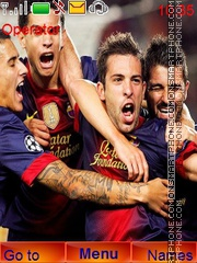 Barcelona Champion theme screenshot