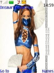 WWE AJ Lee Kitana theme screenshot