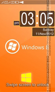 Orenge Windows 8 theme screenshot