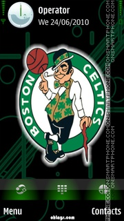 Boston Celtics theme screenshot