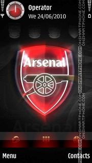 Arsenal tema screenshot