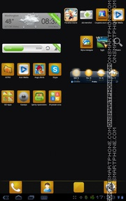 Black Gold 01 tema screenshot