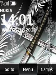 Sword Digital Clock es el tema de pantalla