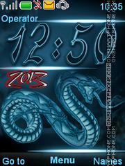 Year snake es el tema de pantalla