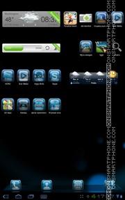 Capture d'écran Blue Galaxy thème