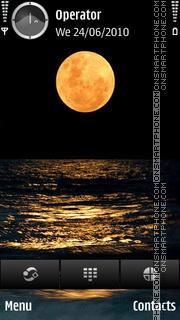 Golden Moon theme screenshot