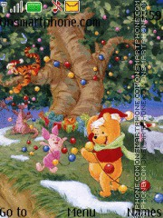 Christmas wd Pooh theme screenshot