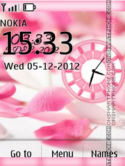 Petal dual clock theme screenshot