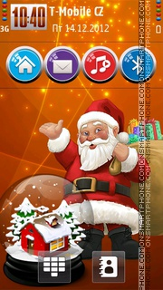 Christmas Orange HD theme screenshot