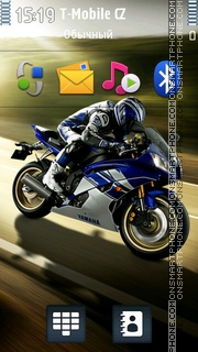 Racing Yamaha R6 theme screenshot