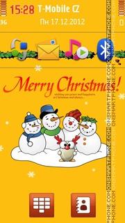 Snowmen Wish You Merry Christmas theme screenshot