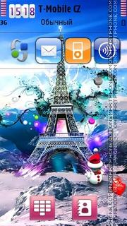 New Year In Paris theme screenshot