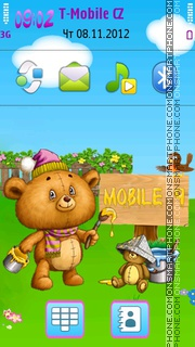 Cute Teddy Bear Theme es el tema de pantalla