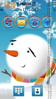 Snowman 09 theme screenshot